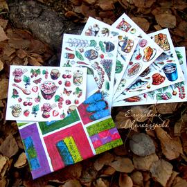 Елизавета Мелкозёрова, лиза мелкозерова, мелкозёрова елизавета, Мелкозерова Лиза, мелкозерова, Melkozerova, Elizaveta Melkozerova, melkozerovaliza, открытки, авторские открытки, открытки Мелкозеровой, почтовые открытки, посткроссинг, postkrossing, дача, варенье, рисунки, дачный стиль, грибы, ягоды, соленья, яблочный пирог, яблоки, открытка, рисованная открытка